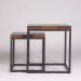 CHECKER SET OF 2 SIDE TABLE