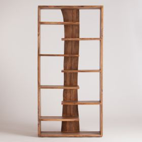 BOOKCASE WITH LIVE EDGES