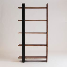 BOOKCASE WITH METAL ON ONE SIDE