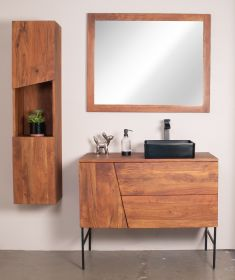 DIVA VANITY | TWO DRAWERS AND ONE DOOR WITH METAL BASE